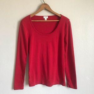 🌞4/$35  J Crew long sleeve red top